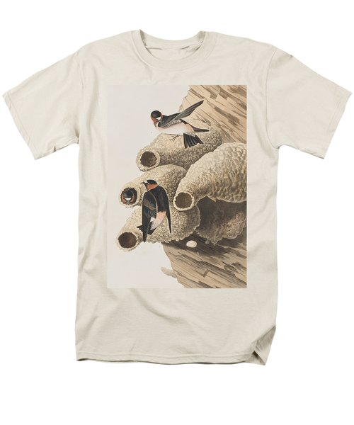 Republican Or Cliff Swallow Men's T-Shirt  (Regular Fit) by John James Audubon
