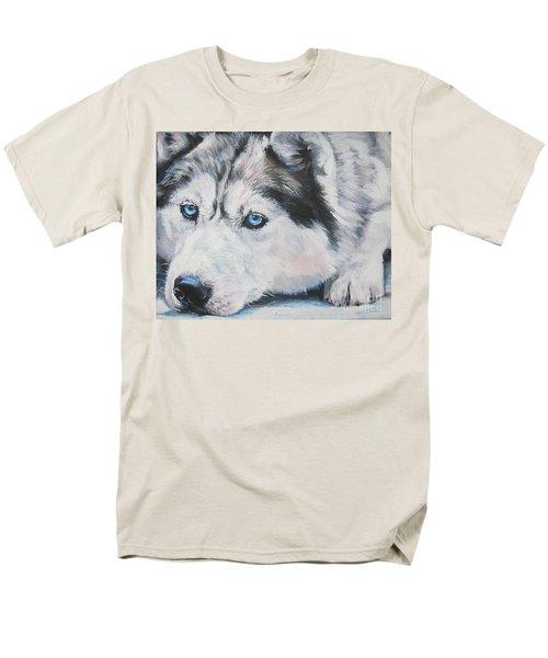 Siberian Husky up close T-Shirt by L A Shepard
