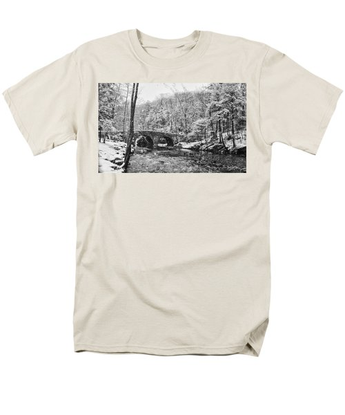 Snow Along the Wissahickon Creek T-Shirt by Bill Cannon