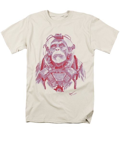 Space Chimp Men's T-Shirt  (Regular Fit) by Kenny Noorlander