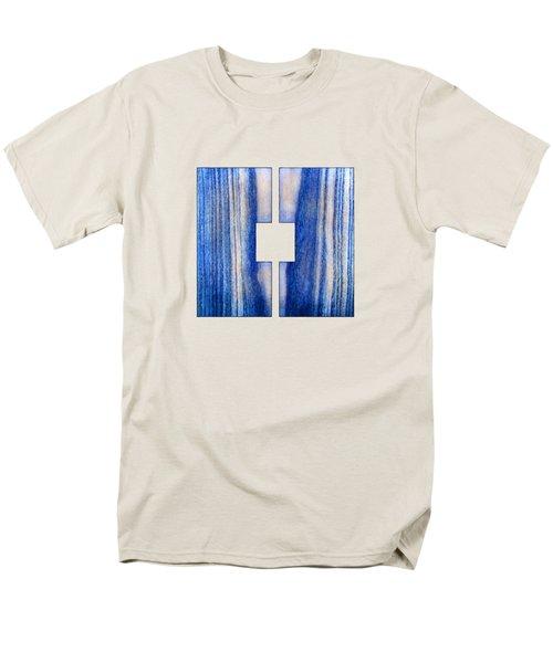 Split Square Blue Men's T-Shirt  (Regular Fit) by YoPedro