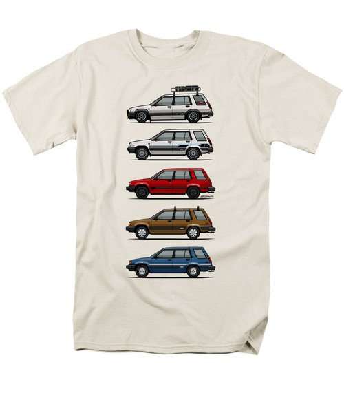 Stack Of Toyota Tercel Sr5 4wd Al25 Wagons Men's T-Shirt  (Regular Fit) by Monkey Crisis On Mars