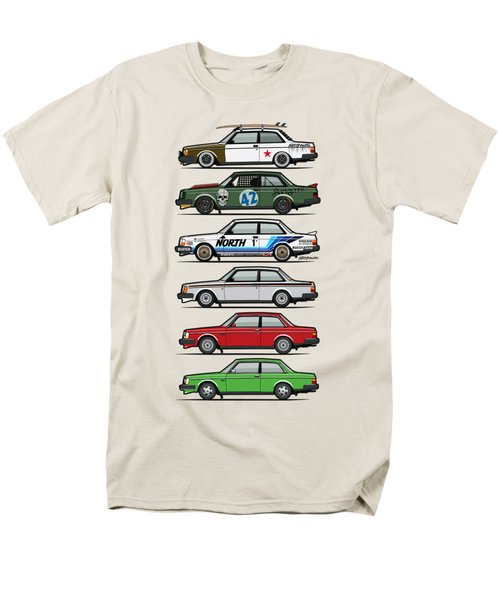 Stack Of Volvo 242 240 Series Brick Coupes Men's T-Shirt  (Regular Fit) by Monkey Crisis On Mars