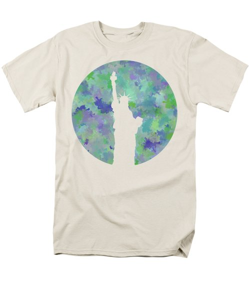 Statue Of Liberty Silhouette Men's T-Shirt  (Regular Fit) by Phil Perkins
