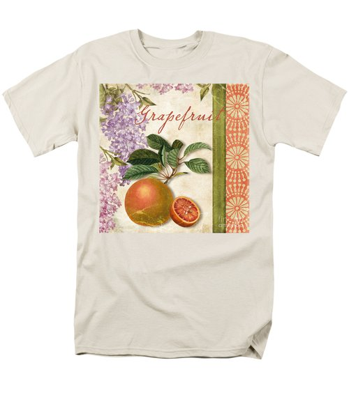 Summer Citrus Grapefruit Men's T-Shirt  (Regular Fit) by Mindy Sommers