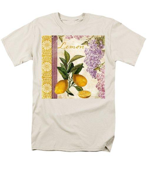 Summer Citrus Lemon Men's T-Shirt  (Regular Fit) by Mindy Sommers