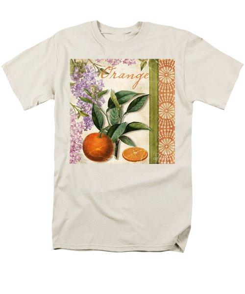 Summer Citrus Orange Men's T-Shirt  (Regular Fit) by Mindy Sommers
