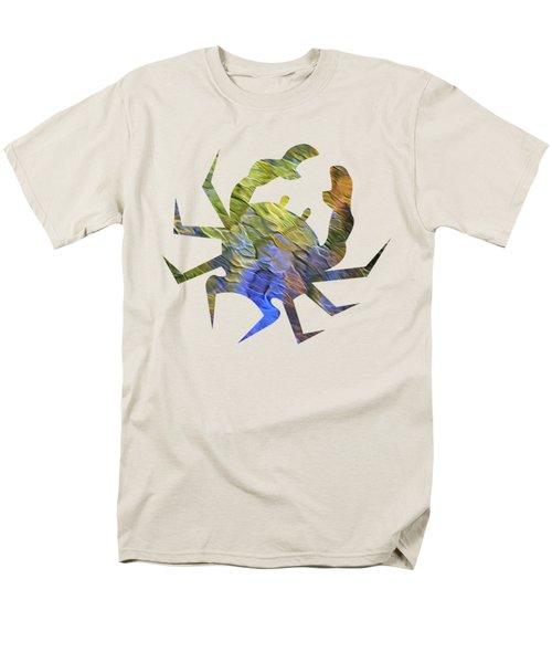 Tangerine Twist Mosaic Abstract Art T-Shirt by Christina Rollo