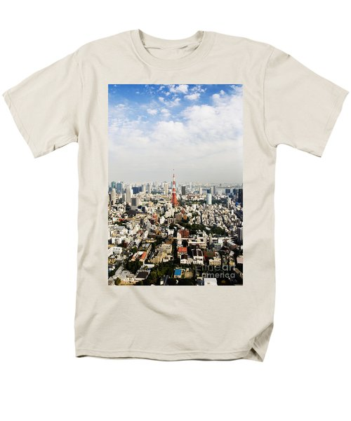 Tower and city view T-Shirt by Bill Brennan - Printscapes