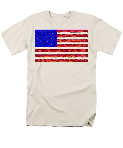 Van Gogh.s Starry American Flag T-Shirt by Wingsdomain Art and Photography