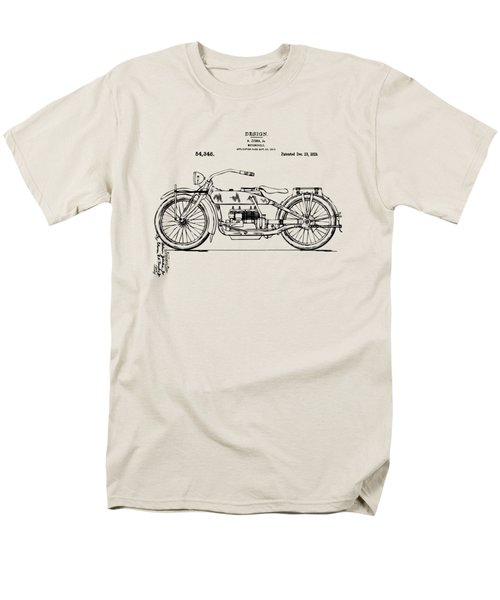 Vintage Harley-davidson Motorcycle 1919 Patent Artwork Men's T-Shirt  (Regular Fit) by Nikki Smith