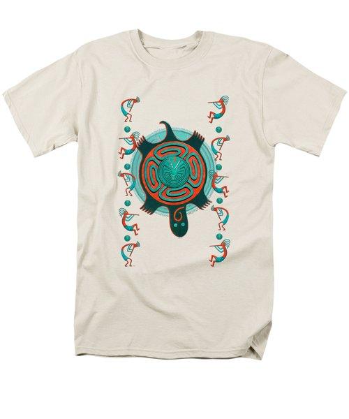 Visitors Anasazi 3d Folk Art Men's T-Shirt  (Regular Fit) by Sharon and Renee Lozen