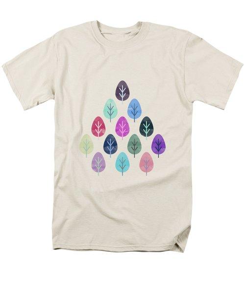 Watercolor Forest Pattern II Men's T-Shirt  (Regular Fit) by Amir Faysal
