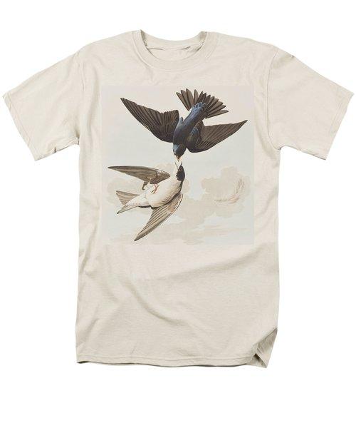 White-bellied Swallow Men's T-Shirt  (Regular Fit) by John James Audubon