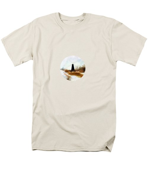 Windmill in the snow T-Shirt by Valerie Anne Kelly