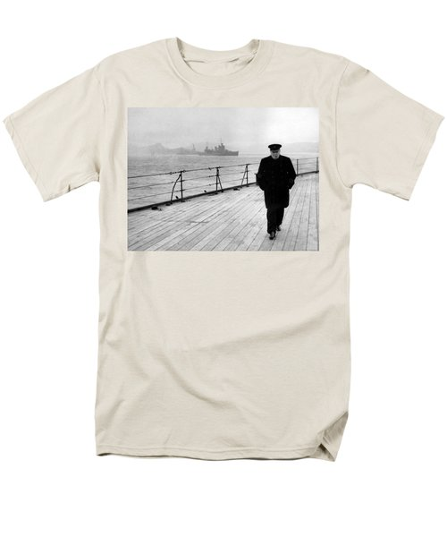 Winston Churchill At Sea T-Shirt by War Is Hell Store