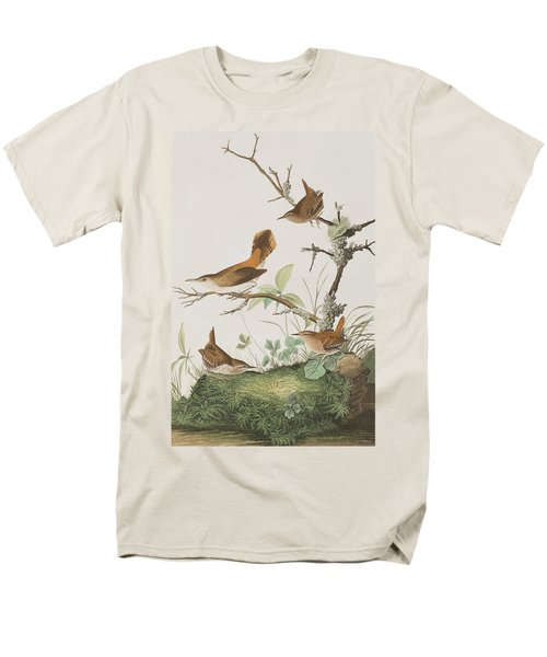 Winter Wren Or Rock Wren Men's T-Shirt  (Regular Fit) by John James Audubon