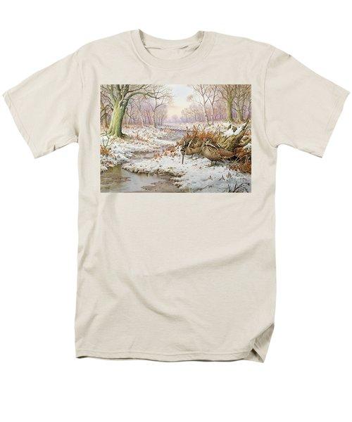 Woodcock Men's T-Shirt  (Regular Fit) by Carl Donner