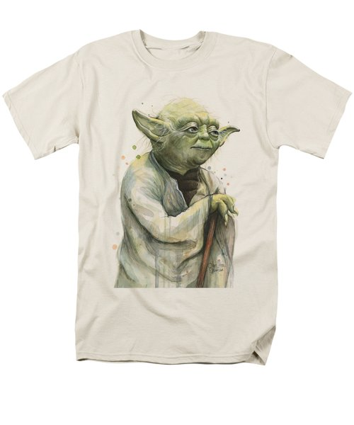 Yoda Portrait Men's T-Shirt  (Regular Fit) by Olga Shvartsur