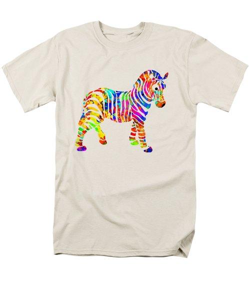 Zebra Men's T-Shirt  (Regular Fit) by Christina Rollo