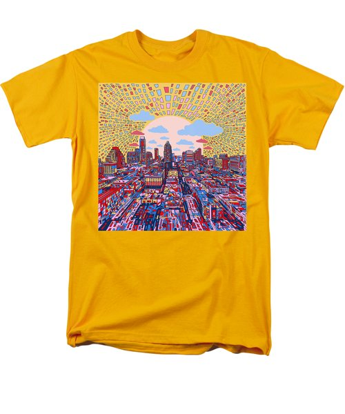 Austin Texas Abstract Panorama 2 Men's T-Shirt  (Regular Fit) by Bekim Art