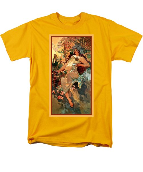 Autumn T-Shirt by Alphonse Maria Mucha