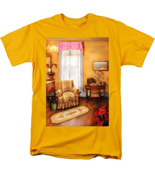 Furniture - Chair - Livingrom Retirement T-Shirt by Mike Savad