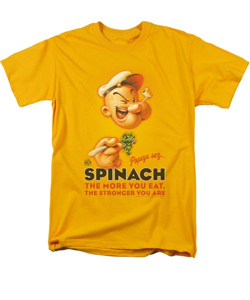 Popeye - Spinach Retro Men's T-Shirt  (Regular Fit) by Brand A