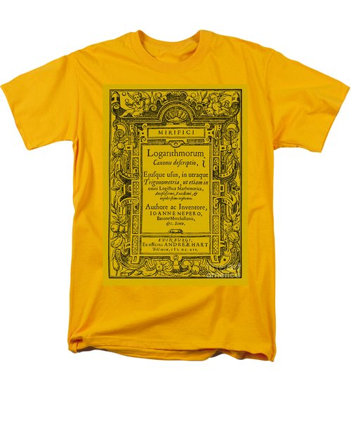 Napiers Treatise On Logarithms T-Shirt by Photo Researchers