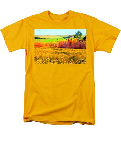 Springtime In The Golden Hills . 7D12402 T-Shirt by Wingsdomain Art and Photography