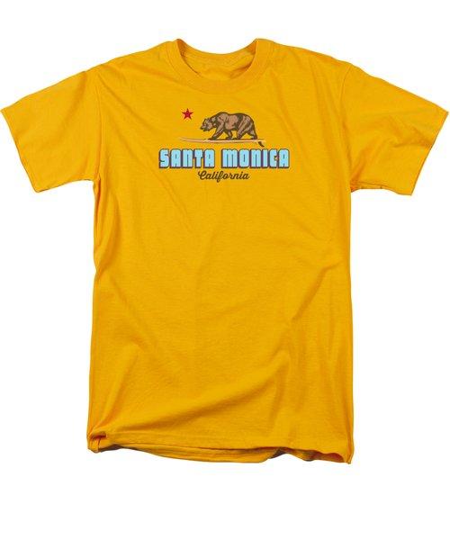 Santa Monica Men's T-Shirt  (Regular Fit) by American Roadside