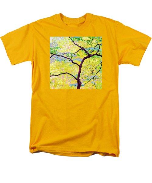 Men's T-Shirt  (Regular Fit) featuring the digital art Dogwood Tree In Spring by A Gurmankin