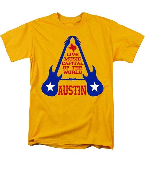 Austin Live Music Capital Of The World Men's T-Shirt  (Regular Fit) by David G Paul
