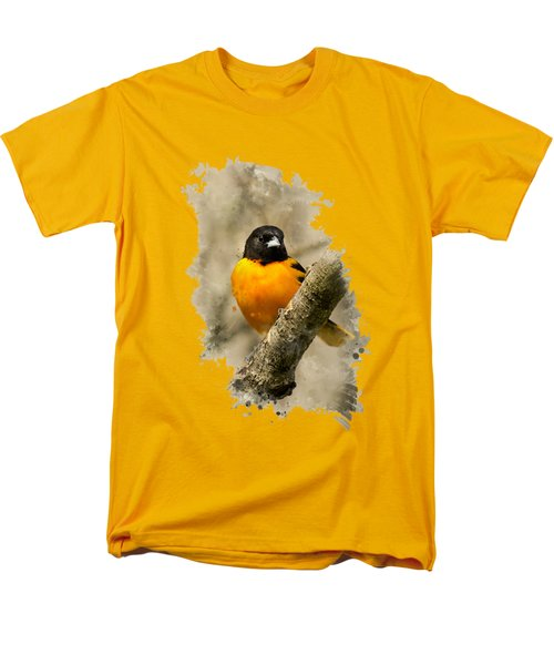 Baltimore Oriole Watercolor Art Men's T-Shirt  (Regular Fit) by Christina Rollo