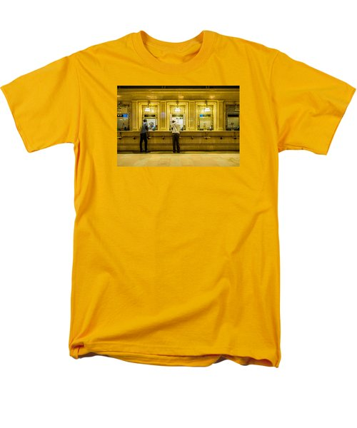 Men's T-Shirt  (Regular Fit) featuring the photograph Buying A Ticket by M G Whittingham