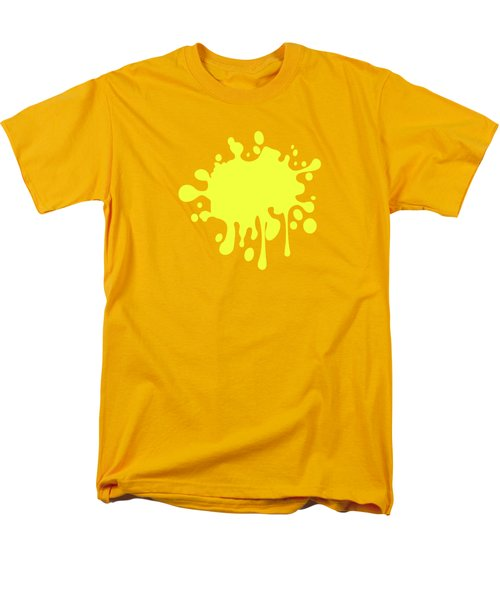 Canary Yellow Solid Color Decor Men's T-Shirt  (Regular Fit) by Garaga Designs