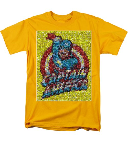 Captain America MM mosaic T-Shirt by Paul Van Scott