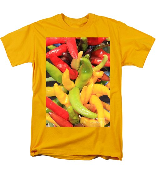 Colorful Chili Peppers  T-Shirt by Carol Groenen