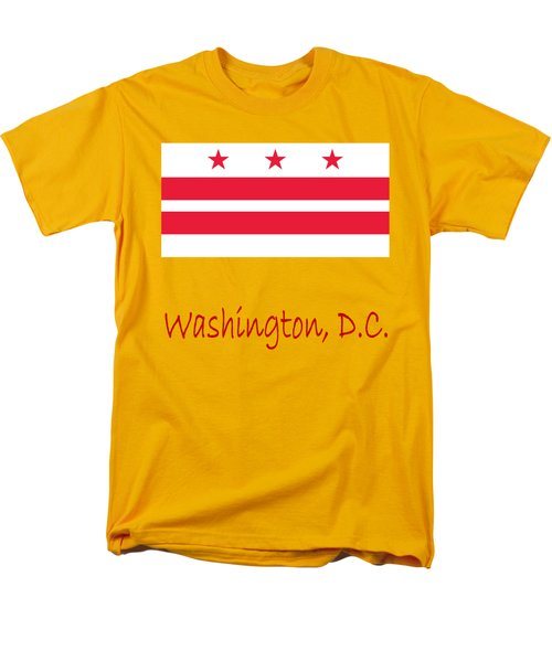 District Of Columbia Flag Men's T-Shirt  (Regular Fit) by Frederick Holiday