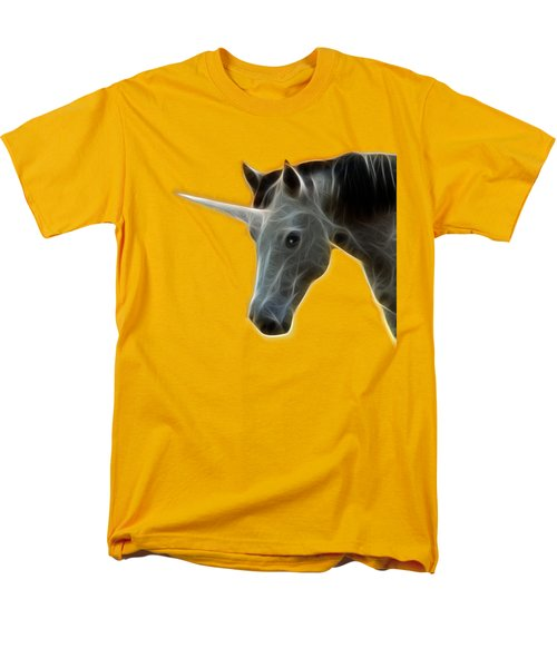 Glowing Unicorn Men's T-Shirt  (Regular Fit) by Shane Bechler