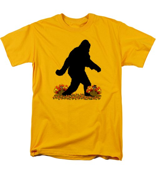 Gone Thanksgiving Squatchin' Men's T-Shirt  (Regular Fit) by Gravityx9   Designs