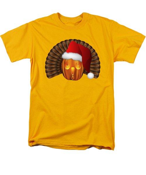 Hallowgivingmas Santa Turkey Pumpkin Men's T-Shirt  (Regular Fit) by MM Anderson