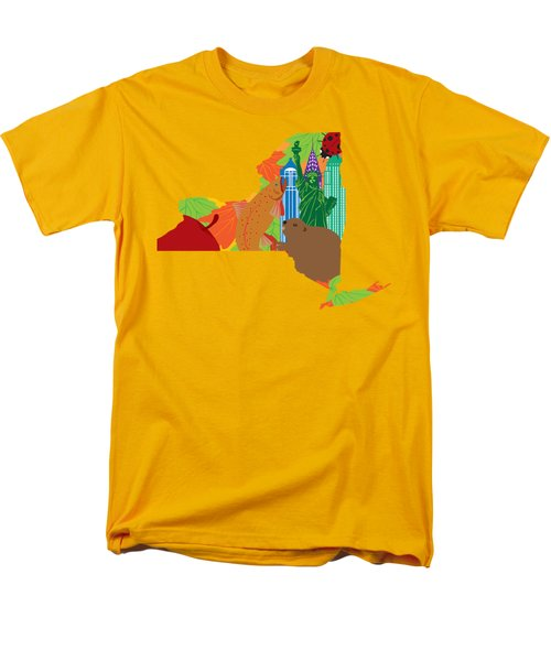 State Of New York Official Map Symbols Men's T-Shirt  (Regular Fit) by Jit Lim