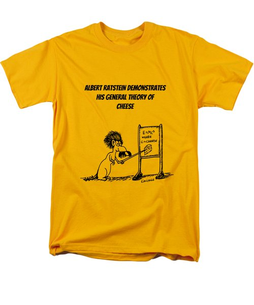 The General Theory Of Cheese Men's T-Shirt  (Regular Fit) by Kim Gauge