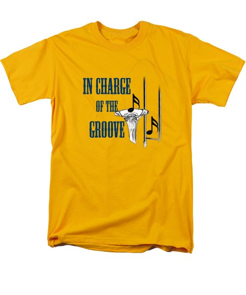 Trombones In Charge Of The Groove 5533.02 Men's T-Shirt  (Regular Fit) by M K  Miller