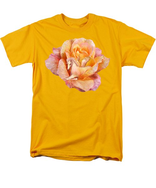 Unicorn Rose Men's T-Shirt  (Regular Fit) by Carol Cavalaris