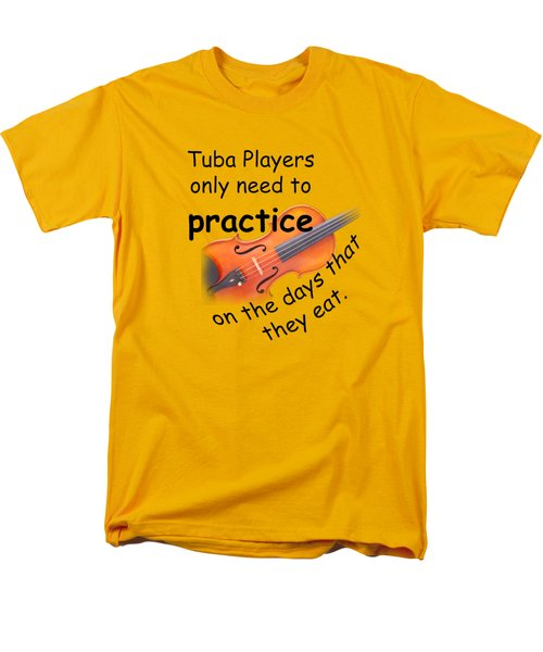 Violin Viola Practice When You Eat For T Shirts  Or Posters 4832.02 Men's T-Shirt  (Regular Fit) by M K  Miller