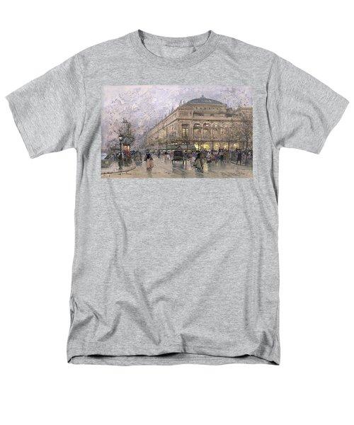 Parisian Street Scene Men's T-Shirt  (Regular Fit) by Eugene Galien-Laloue