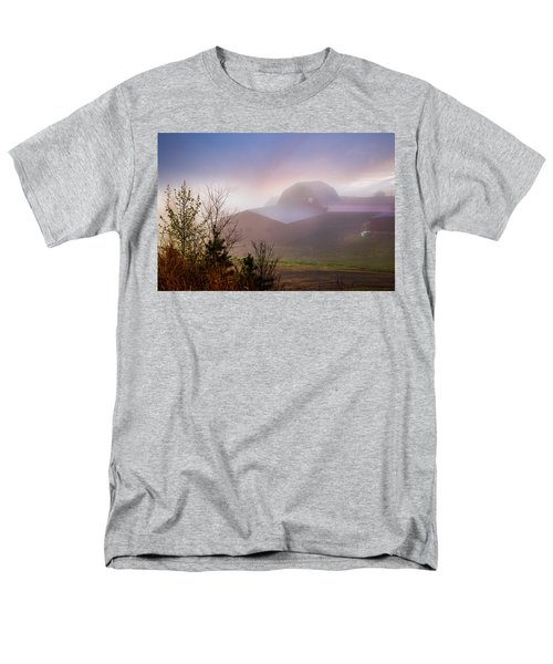 Barns in the Morning Light T-Shirt by Debra and Dave Vanderlaan