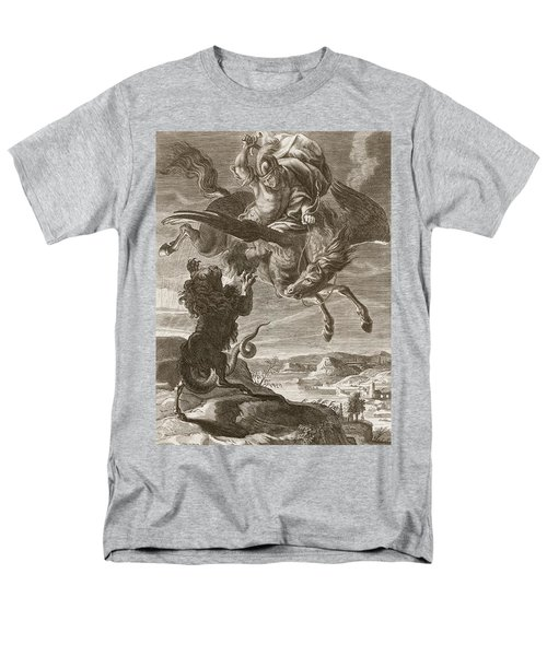 Bellerophon Fights The Chimaera, 1731 Men's T-Shirt  (Regular Fit) by Bernard Picart